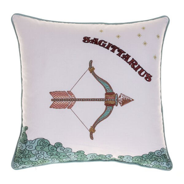 Horoscope Sagittarius 100% Cotton Throw Pillow by 14 Karat Home Inc.